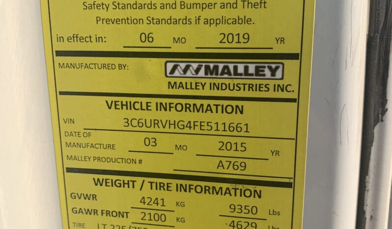 2015 Ram Pro Master by Malley, Newer Engine w 25k miles #536 full